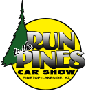 Run to the Pines Car Show Contact Us logo (image)